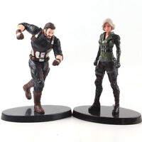 Marvel Avengers Infinity War Black Widow Captain America PVC Figure Model Toy