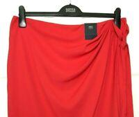 Ladies Wrap Skirt M&S Hot Red Animal Print Crepe 16 BNWT Marks & Spencer Women