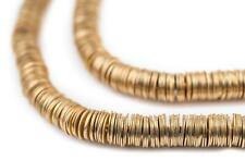 Gold Flat Disk Heishi Beads 6mm Brass 16 Inch Strand