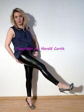 Hx66g Eco PU cuir synthétique Leggings Noir S/M Brillance schmalbund Leather legs