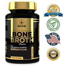Bone Broth Protein Powder Superfood Capsules+ Bone Broth Protein (180 Caps). New
