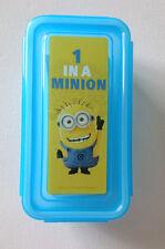 Minions Mini Azul Snack Bañera Con Tapa Caja Niños Comida bits 'n' Bobs 4-Broches Pet tratar