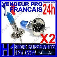 Kit DE 2 Ampoule Lampe Halogene Feu Phare XENON GAZ SUPER WHITE H1 55W 8500K 12V