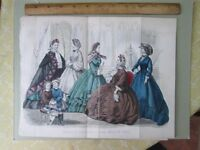 Vintage Print,MARCH,Godeys,Fashion,1862