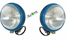 Fordson Dexta Head lights blue grill mounted Pair