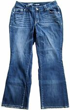 "Lane Bryant ""Distinctly Boot"" Dark Blue Denim Jeans Size 14"
