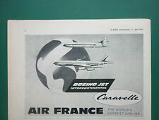 4/1963 PUB AIR FRANCE AIRLINE CARAVELLE BOEING JET AIRLINER ORIGINAL AD