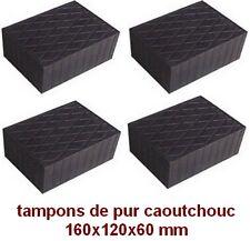 4 X tampons de pur caoutchouc 160x120x60 mm. pour Pont elevateur - bloc - Italie