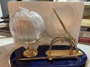Desk Set World Globe - Plainstand of Globe - Stone Marble Globe