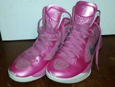 NIKE PINK BREAST CANCER AWARENESS AIR ZOOM HYPERDUNK WOMENS SIZE 13 454133 600