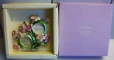PAST TIMES DOUBLE PHOTO FRAME JEWELLED FLORAL DESIGN FREE STANDING - NEW IN BOX
