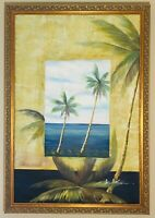 Stunning Original Oil Painting Ocean Views Signed By Artist And Framed