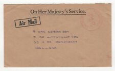 1977 GIBRALTAR OHMS Air Mail Cover to DORDRECHT NETHERLANDS