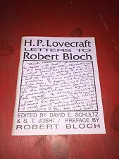 H.P. Lovecraft Letters to Robert Bloch Necronomicon Press 1993