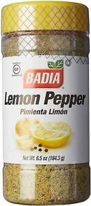 Badia Lemon Pepper Seasoning Condiment 184.3g(6.5oz) Gluten Free