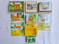 Memo Dschungeltiere NEU Legespiel Holzspielzeug Puzzle Holzpuzzle Erzgebirge Holzspielzeug