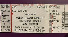 Queen + Adam Lambert Ticket Las Vegas 2018