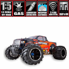 Redcat Racing Rampage MT V3 Gas Truck 1/5 Scale RC Monster Truck,Orange W/ Pipe!