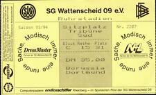 Ticket BL 93/94 SG Wattenscheid 09 - Borussia Dortmund