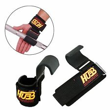 HUBB Fitness Weight Lifting Gym Hook Bar Wrist Support Wraps Gym Gloves HG-608