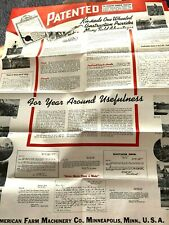 VINTAGE 1948 KINKADE GARDEN TRACTOR~ORDERING PACKAGE