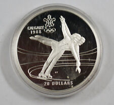1987 Canada RCM 20 Dollar Silver 1988 Calgary Olympic Games Silver Proof Coin