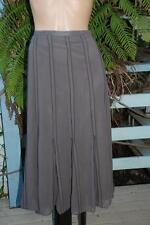 W-Lane Label Size 16 Stone Brown SKIRT. NEW rrp$89.99 Stretch NWOT Flared Hem