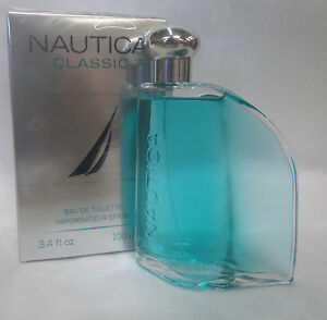 NAUTICA CLASSIC  3.4 OZ / 100 ML EDT SPRAY FOR MEN COLOGNE SEALED  NEW IN BOX