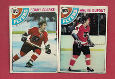 1978-79 TOPPS FLYERS BOBBY CLARKE +  ANDRE THE MOOSE DUPONT CARD