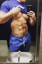 Shirtless Male Muscular Beefcake Jock Lifting Shirt Hairy Abs PHOTO 4X6 C1746