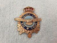 Vintage Royal Canadian Air Force Cap Badge Enameled