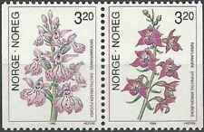 Timbres Flore Orchidées Norvège 995/6 ** (38888G)