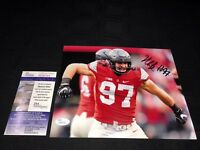 NICK BOSA OHIO STATE BUCKEYES SIGNED 8X10 PHOTO JSA COA SD57631 49'ERS