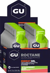 GU Roctane Energy Gel: Strawberry Kiwi, Box of 24