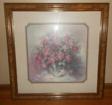 "Vintage Home Interiors Designer Series Beloved Print ""Roses, Roses, Roses"" Rare"