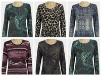 Extralindas Ladies Long Sleeve Light Knit Top Sizes 12-14-16-18-20-22