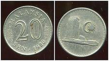 MALAISIE 20 sen 1980