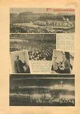 Messe Congrès JOC Parc des Princes Paris/Abbaye de Solesmes 1937 ILLUSTRATION
