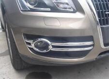 2pcs ABS Chromed Head Front Fog light Lamp Cover Trim For Audi Q5 2008-2012