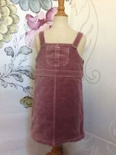 Girls Rose Pink Cotton Velvet Overalls JUMPER DRESS 6 5 Lined OLIVE JUICE Mauve