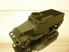 DINKY TOYS 822 HALF TRACK MILITARY VEHICLE - ARMY GREEN - GOOD CONDITION