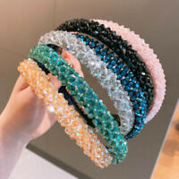 Women's Girls Hairband Crystal Hair Band Hoop Wedding Hair Accessories Party