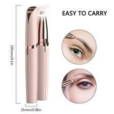 Womens Painless Brows Trimmer Electric Eyebrow Facial Hair Remover LED Light