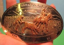 1980 BOOT HILL Calf Tying Trophy Buckle by COMSTOCK Western Cowboy Belt Buckle