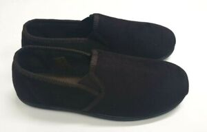 MENS NEW TOP QUALITY FULL INDOOR SLIPPERS HOUSE SHOE BROWN THIN CORD  7 - 11