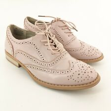 Women's WANTED Size 5.5 Pink Wingtip Oxford Loafers