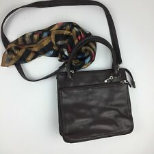 Fossil Women's Hand Bag Brown Double Handles Detachable Strap Body 9 X 10