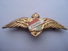 C1930S VINTAGE CANADIAN AIR FORCE ENAMEL SWEETHEARTS PIN BROOCH