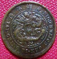 CHINA - TAI-CHING-TI-KUO  TEN (10) CASH COPPER COIN -  Very Fine   (C-04)