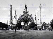 EXPOSITION UNIVERSAL 1900 PARIS FRANCE OLD BW PHOTO PRINT 12x16 inch 843BW